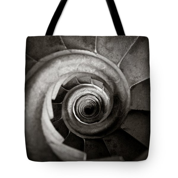 Sagrada Familia Steps Tote Bag by Dave Bowman