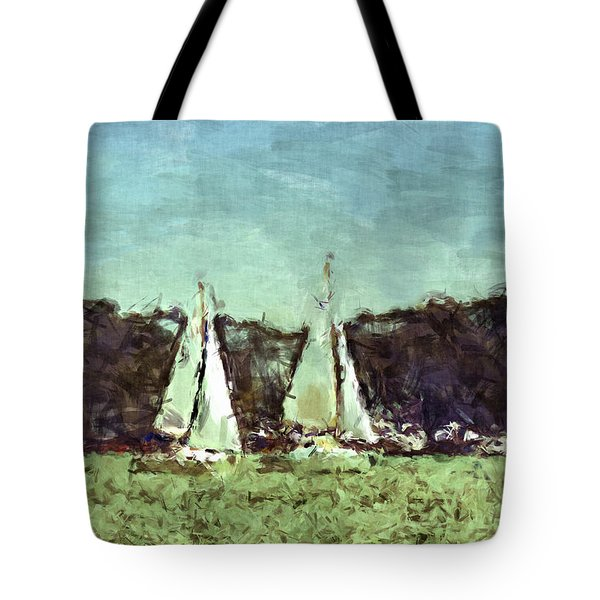 Sail Away Tote Bag by Susan Leggett