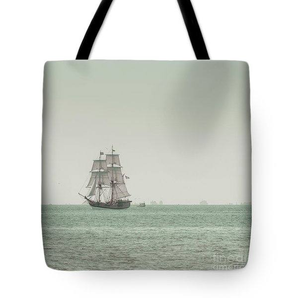 Sail Ship 1 Tote Bag by Lucid Mood