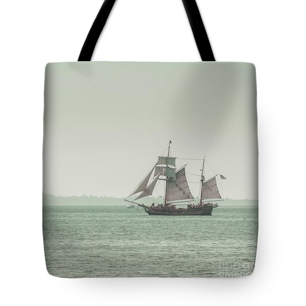 Sail Ship 2 Tote Bag by Lucid Mood