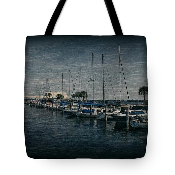 Sailboats Tote Bag by Sandy Keeton