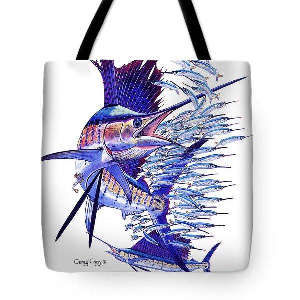 Sailfish Ballyhoo Tote Bag by Carey Chen
