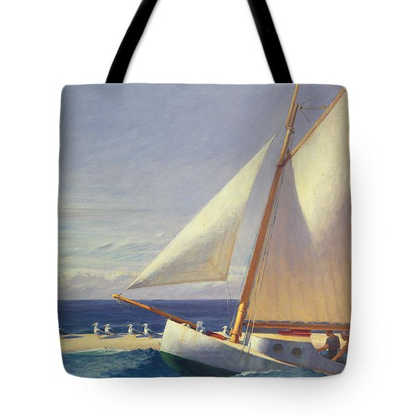 Sailing Boat Tote Bag by Edward Hopper