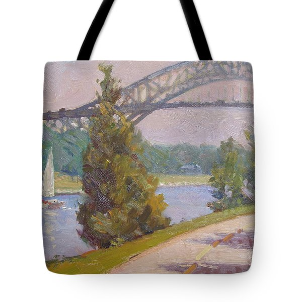Sailing Cape Cod Canal Tote Bag by Dianne Panarelli Miller