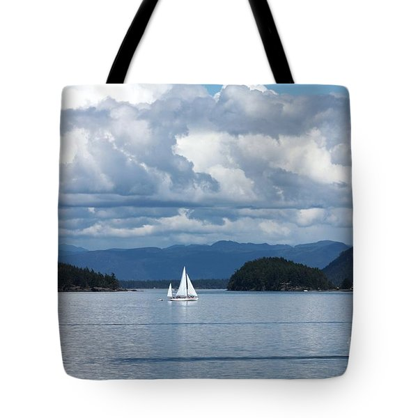 Sailing In The San Juans Tote Bag by Carol Groenen