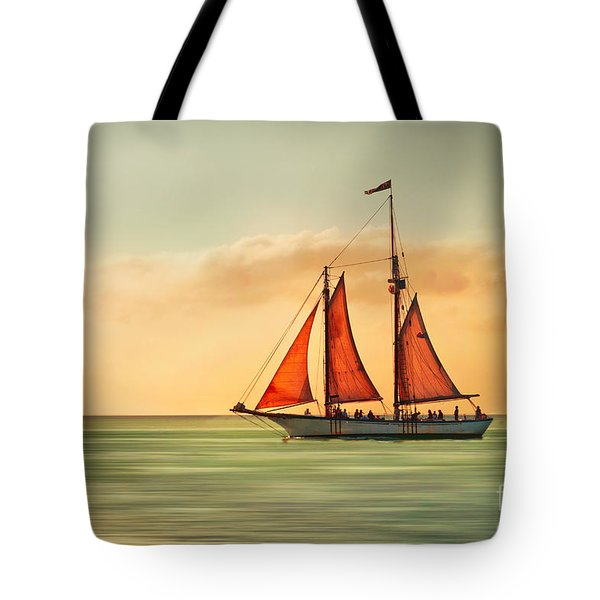 Sailing Into The Sun Tote Bag by Hannes Cmarits