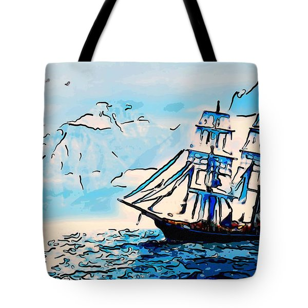 Sailing South 3 Tote Bag by MotionAge Designs