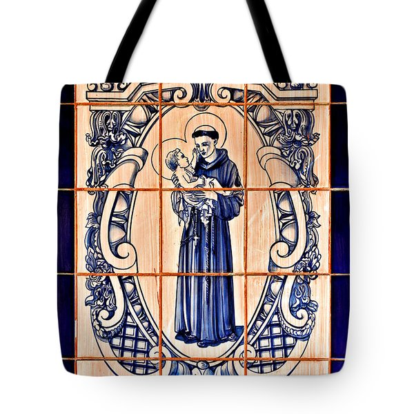 Saint Anthony Of Padua Tote Bag by Christine Till