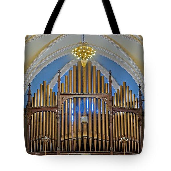 Saint Bridgets Pipe Organ Tote Bag by Susan Candelario