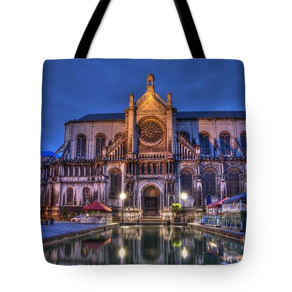 Saint Catherine Church. Brussels Tote Bag by Juli Scalzi