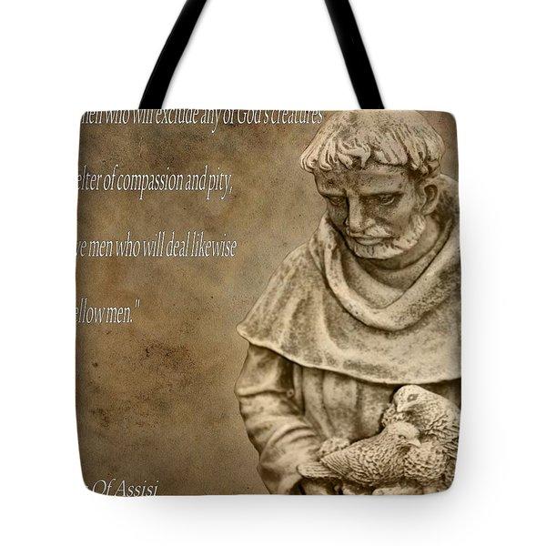 Saint Francis Of Assisi Tote Bag by Dan Sproul