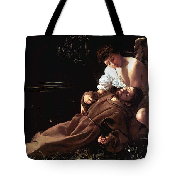 Saint Francis of Assisi in Ecstasy Tote Bag by Caravaggio