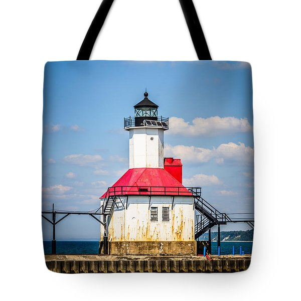 Saint Joseph Lighthouse Picture Tote Bag by Paul Velgos