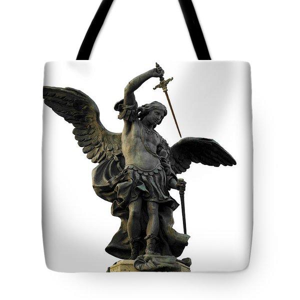 Saint Michael Tote Bag by Fabrizio Troiani