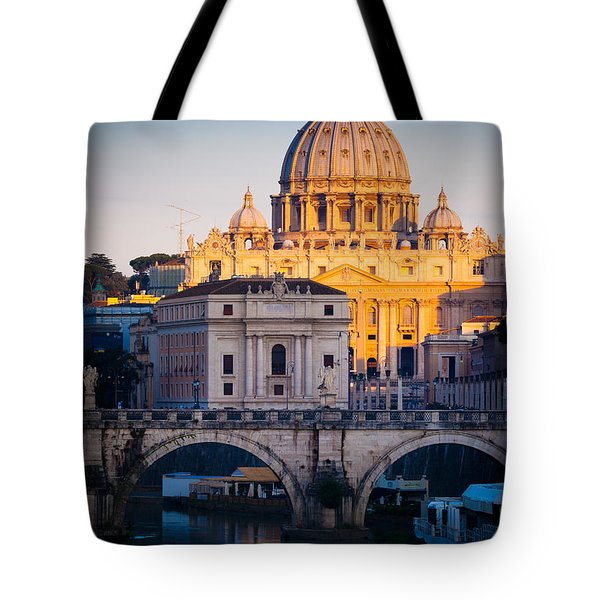 Saint Peter's Dawn Tote Bag by Inge Johnsson