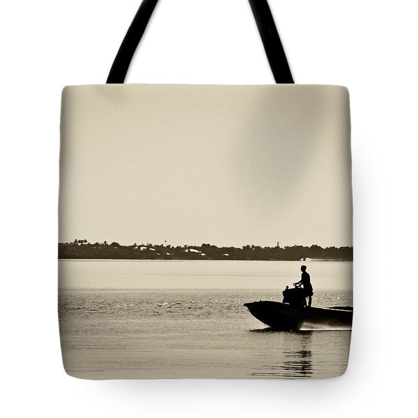 Saintlucieboating Tote Bag by Patrick M Lynch