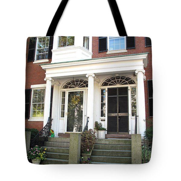 Salem Brownstone Tote Bag by Barbara McDevitt