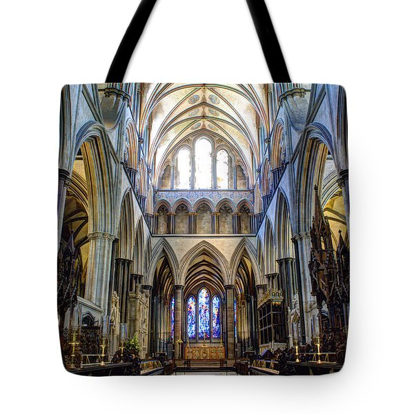 Salisbury Cathedral Tote Bag by Juli Scalzi