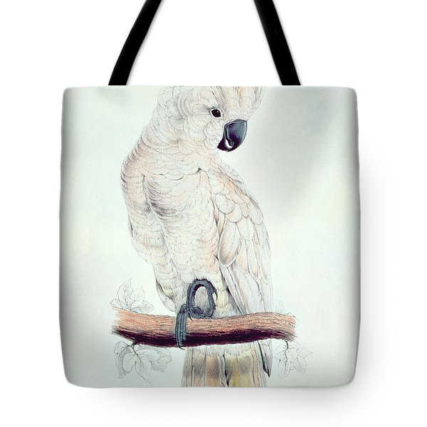 Salmon Crested Cockatoo Tote Bag by Edward Lear