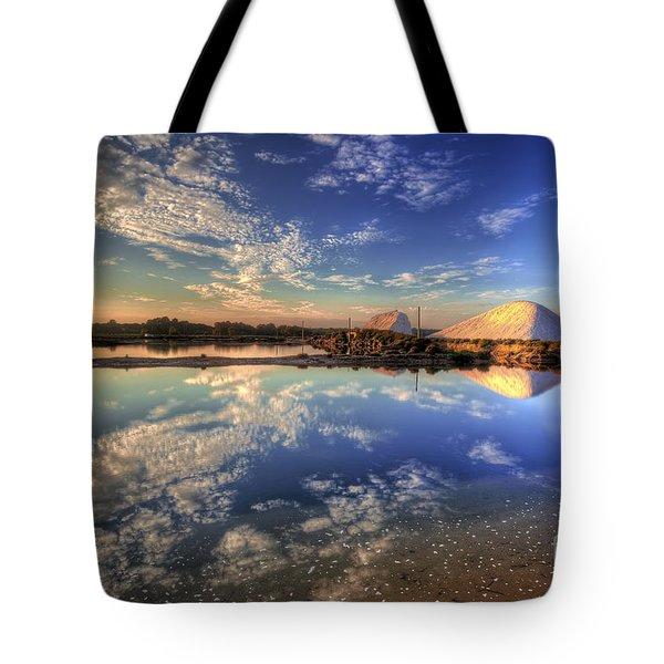 Salt Pans Of Ludo Tote Bag by English Landscapes