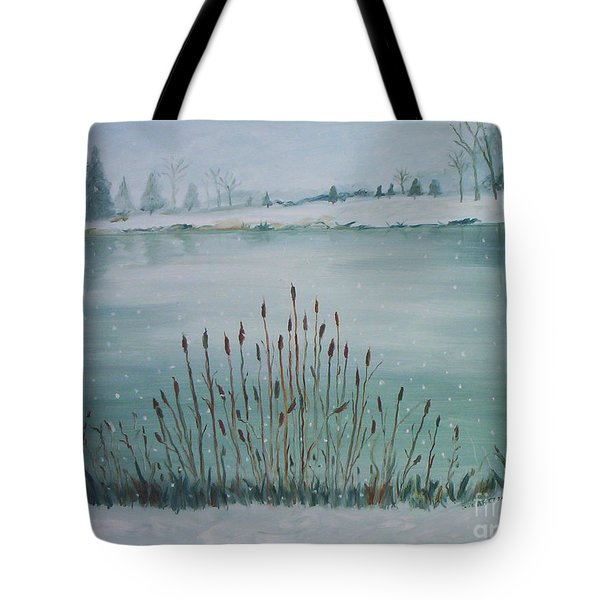 Saltville Pond Tote Bag by Julie Brugh Riffey