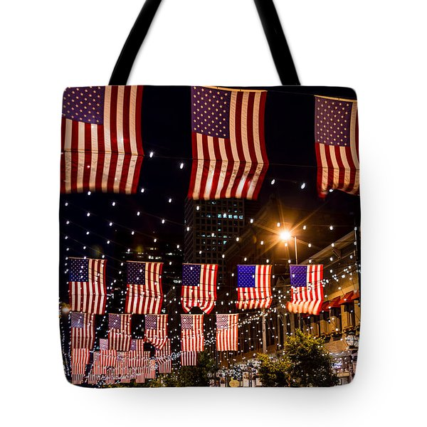 Salute to Old Glory Tote Bag by Teri Virbickis