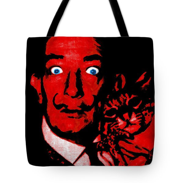 Salvador Dali and Friend 20130212v2 Tote Bag by Wingsdomain Art and Photography