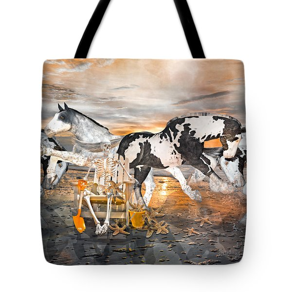 Sam and the Horses Tote Bag by Betsy C  Knapp