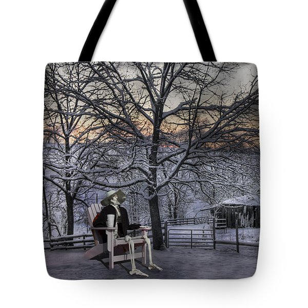 Sam Visits Winter Wonderland Tote Bag by Betsy C  Knapp