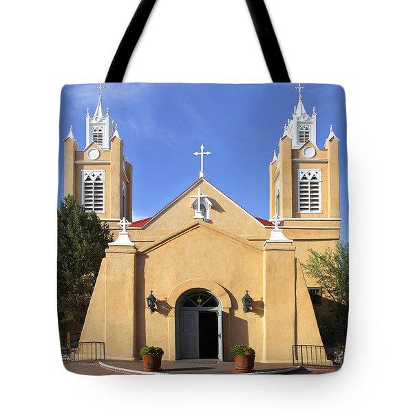 San Felipe Church - Old Town Albuquerque   Tote Bag by Mike McGlothlen