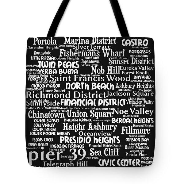 San Francisco 20130710bw Tote Bag by Wingsdomain Art and Photography