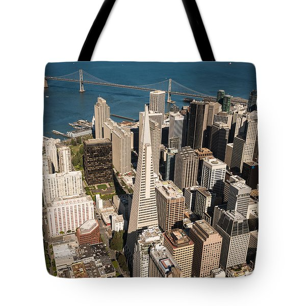 San Francisco Aloft Tote Bag by Steve Gadomski