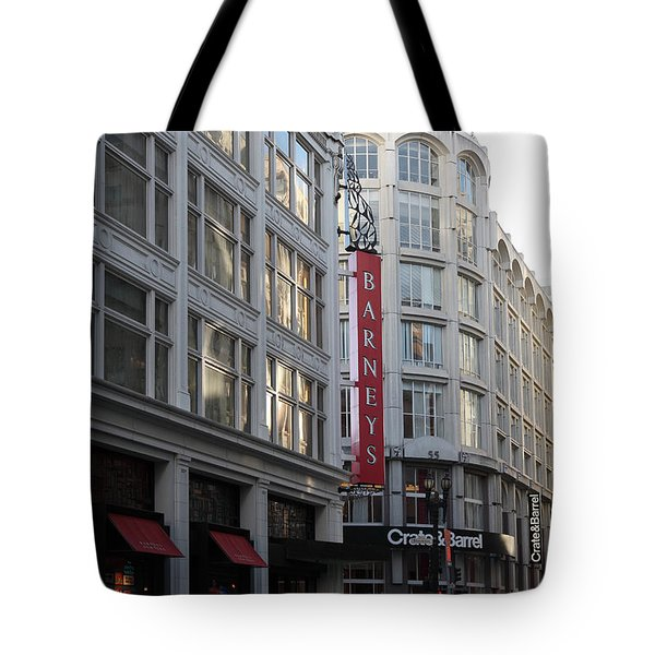 San Francisco Barneys Department Store - 5D20543 Tote Bag by Wingsdomain Art and Photography