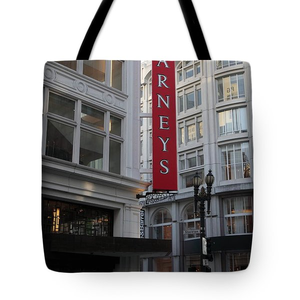San Francisco Barneys Department Store - 5d20544 Tote Bag by Wingsdomain Art and Photography