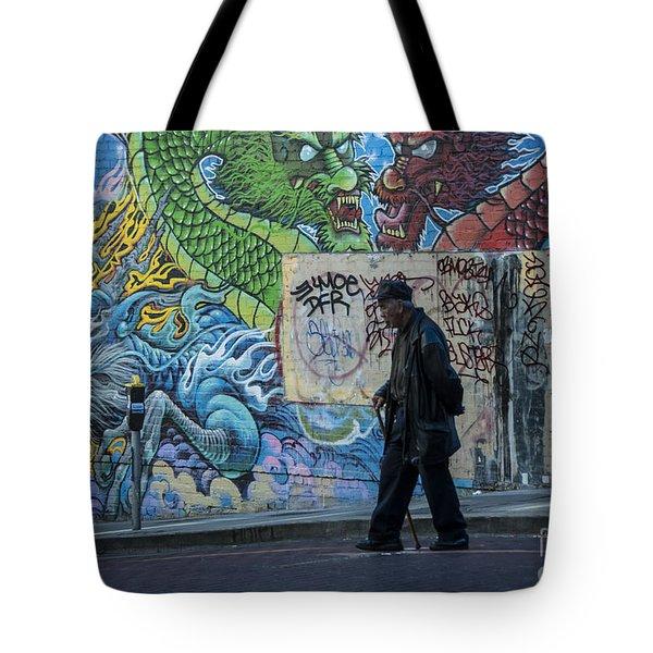San Francisco Chinatown Street Art Tote Bag by Juli Scalzi