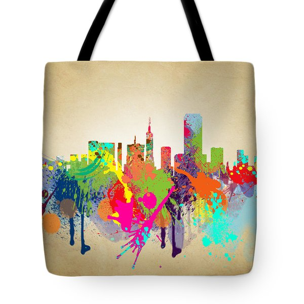 san francisco Citi Tote Bag by Mark Ashkenazi
