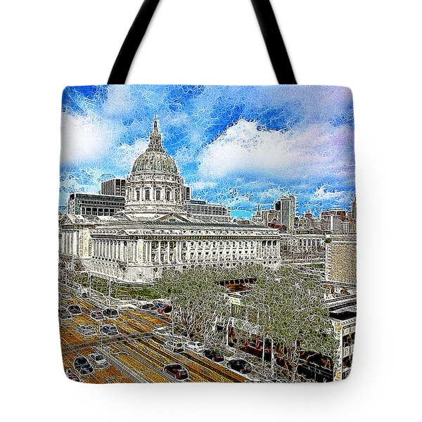 San Francisco City Hall 5D22507 Photoart Tote Bag by Wingsdomain Art and Photography