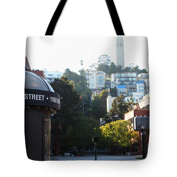 San Francisco Coit Tower At Levis Plaza 5D26212 Tote Bag by Wingsdomain Art and Photography