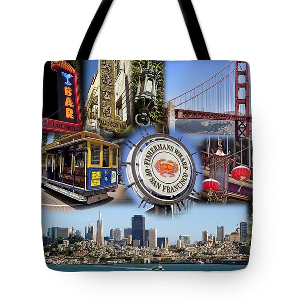 San Francisco Collage Tote Bag by Kelley King