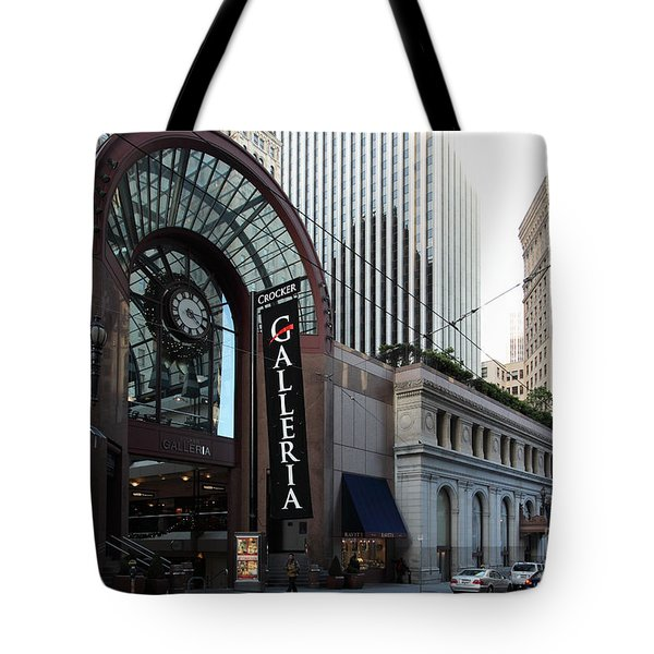 San Francisco Crocker Galleria - 5D20596 Tote Bag by Wingsdomain Art and Photography