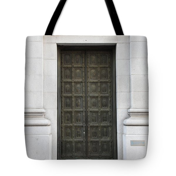 San Francisco Emporio Armani Store Doors - 5D20538 Tote Bag by Wingsdomain Art and Photography