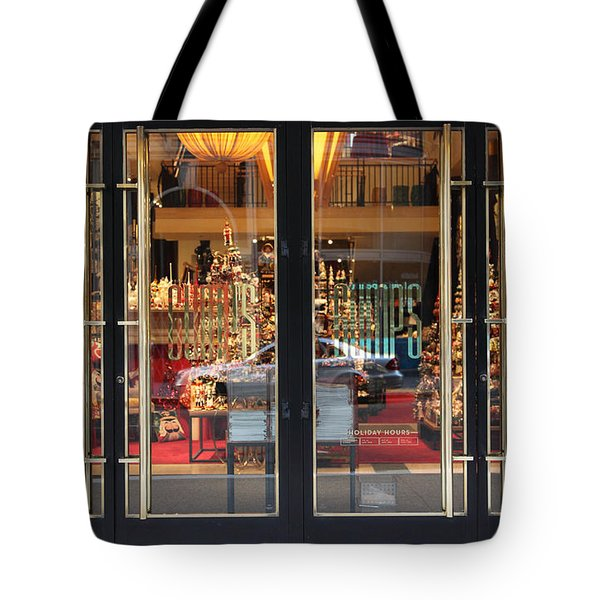 San Francisco Gumps Store Doors - 5D20585 Tote Bag by Wingsdomain Art and Photography