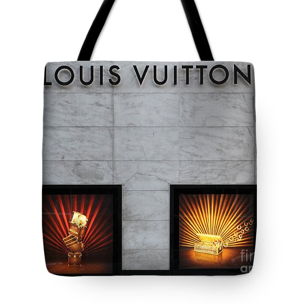 San Francisco Louis Vuitton Storefront - 5D20546-2 Tote Bag by Wingsdomain Art and Photography