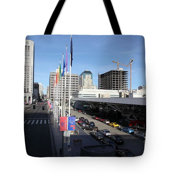 San Francisco Moscone Center and Skyline - 5D20511 Tote Bag by Wingsdomain Art and Photography