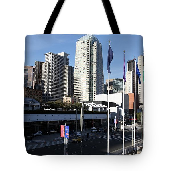 San Francisco Moscone Centerand And Skyline - 5D20504 Tote Bag by Wingsdomain Art and Photography