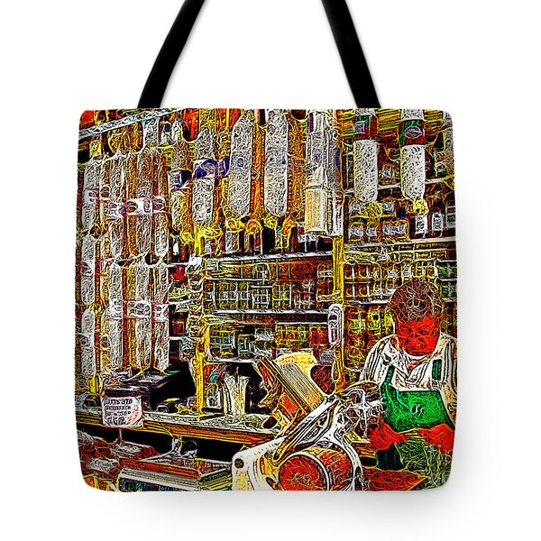 San Francisco North Beach Deli 20130505v1 Tote Bag by Wingsdomain Art and Photography