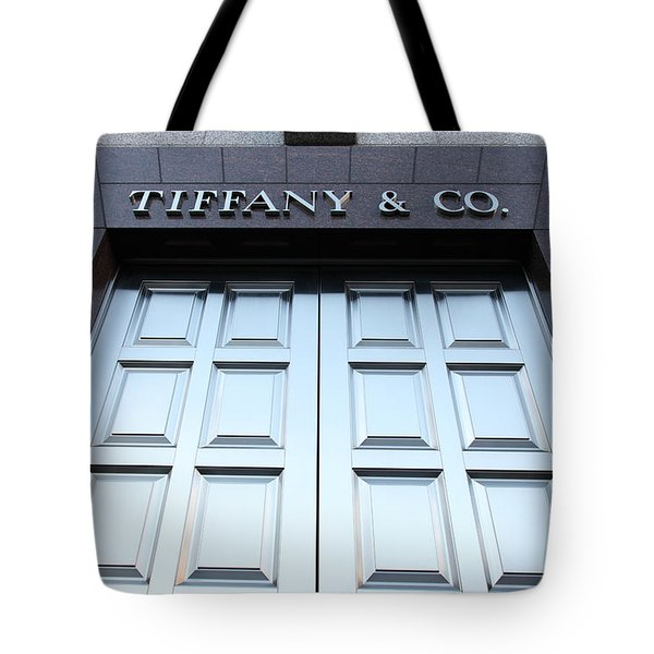 San Francisco Tiffany and Company Store Doors - 5D20562 Tote Bag by Wingsdomain Art and Photography