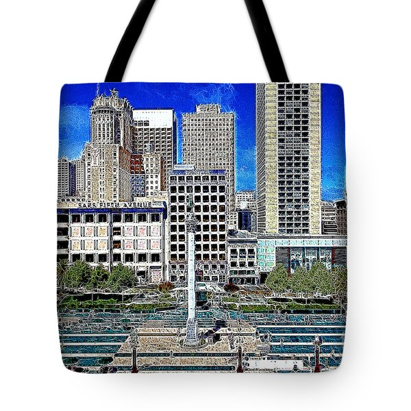 San Francisco Union Square 5D17938 Artwork Tote Bag by Wingsdomain Art and Photography