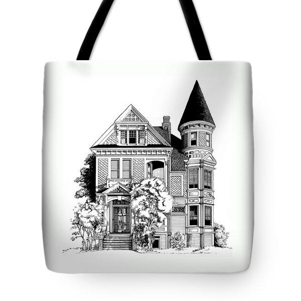 San Francisco Victorian Tote Bag by Mary Palmer