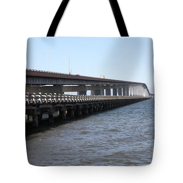 San Mateo Bridge In The California Bay Area 5d21892 Tote Bag by Wingsdomain Art and Photography